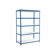Rapid 2 Shelving With 5 Melamine Shelves 1525wx1600h (Blue)