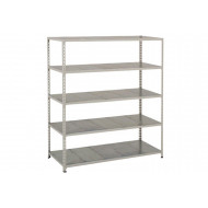 Rapid 2 Shelving With 5 Galvanized Shelves 1525wx1600h (Grey)