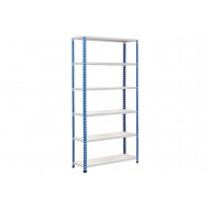 Rapid 2 Shelving With 6 Melamine Shelves 1525wx1600h (Blue/Grey)