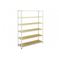 Rapid 2 Shelving With 6 Chipboard Shelves 1525wx1600h (Grey)