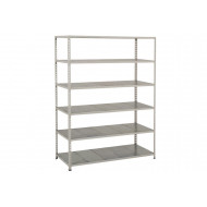Rapid 2 Shelving With 6 Galvanized Shelves 1525wx1600h (Grey)