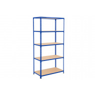 Rapid 2 Shelving With 5 Chipboard Shelves 915wx1980h (Blue)