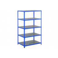 Rapid 2 Shelving With 5 Galvanized Shelves 915wx1980h (Blue)