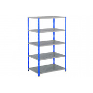 Rapid 2 Shelving With 5 Galvanized Shelves 915wx1980h (Blue/Grey)