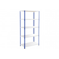 Rapid 2 Shelving With 5 Melamine Shelves 915Wx1980H (Blue/Grey)