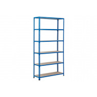 Rapid 2 Shelving With 6 Chipboard Shelves 915wx1980h (Blue)