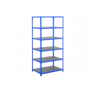 Rapid 2 Shelving With 6 Galvanized Shelves 915wx1980h (Blue)