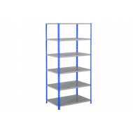 Rapid 2 Shelving With 6 Galvanized Shelves 915wx1980h (Blue/Grey)