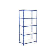 Rapid 2 Shelving With 5 Melamine Shelves 915wx1980h (Blue)