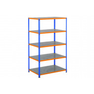Rapid 2 Shelving With 5 Galvanized Shelves 915wx1980h (Blue/Orange)