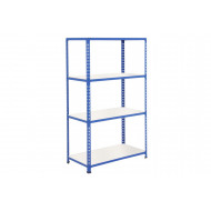 Rapid 2 Shelving With 4 Melamine Shelves 1220wx1980h (Blue)