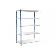 Rapid 2 Shelving With 5 Melamine Shelves 1220wx1980h (Blue/Grey)