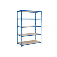 Rapid 2 Shelving With 5 Chipboard Shelves 1220Wx1980H (Blue)
