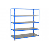 Rapid 2 Shelving With 5 Galvanized Shelves 1220wx1980h (Blue)
