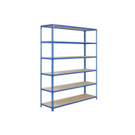 Rapid 2 Shelving With 6 Chipboard Shelves 1220wx1980h (Blue)