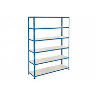 Rapid 2 Shelving With 6 Melamine Shelves 1525wx1980h (Blue)