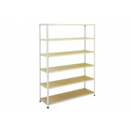 Rapid 2 Shelving With 6 Chipboard Shelves 1220wx1980h (Grey)
