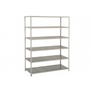 Rapid 2 Shelving With 6 Galvanized Shelves 1220wx1980h (Grey)