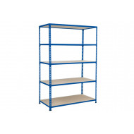 Rapid 2 Shelving With 5 Chipboard Shelves 1525wx1980h (Blue)