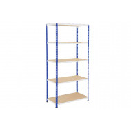 Rapid 2 Shelving With 5 Chipboard Shelves 915wx2440h (Blue/Grey)