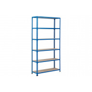Rapid 2 Shelving With 6 Chipboard Shelves 915wx2440h (Blue)