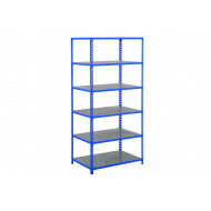 Rapid 2 Shelving With 6 Galvanized Shelves 915wx2440h (Blue)