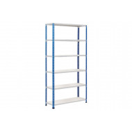 Rapid 2 Shelving With 6 Melamine Shelves 915wx2440h (Blue/Grey)