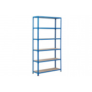 Rapid 2 Shelving With 6 Chipboard Shelves 1220wx2440h (Blue)