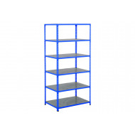 Rapid 2 Shelving With 6 Galvanized Shelves 1220wx2440h (Blue)
