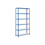 Rapid 2 Shelving With 6 Melamine Shelves 1220wx2440h (Blue)