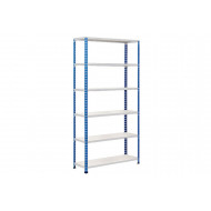 Rapid 2 Shelving With 6 Melamine Shelves 1220wx2440h (Blue/Grey)