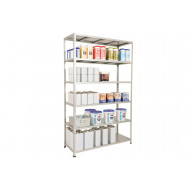 Rapid 2 Galvanised Shelving With 6 Galvanized Shelves 915wx1980h