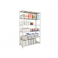 Rapid 2 Galvanised Shelving With 6 Galvanized Shelves 1220Wx1980H