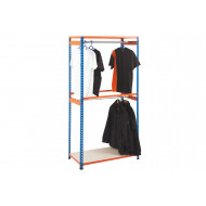 Rapid 2 Garment Shelving With 2 Shelves