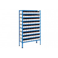 Rapid 2 Shelving With 90 Cardboard Picking Bins