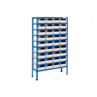 Rapid 2 Shelving With 36 Cardboard Picking Bins
