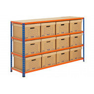 Rapid 2 Storage Bays With 12 Document Boxes