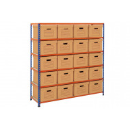 Rapid 2 Single Sided Storage Bay With 20 Brown Document Boxes