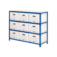 Rapid 2 Single Sided Storage Bay With 9 Document Boxes