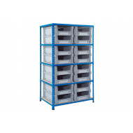 Rapid 2 Shelving With Euro Containers
