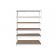 Rapid 3 Shelving With 6 Chipboard Shelves 1500wx1600h (Grey)
