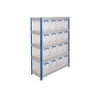 Rapid 3 Shelving With 5 Chipboard Shelves 900wx1800h (Blue/Grey)