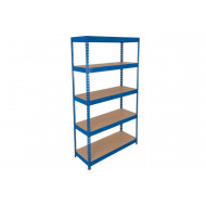 Rapid 3 Shelving With 5 Chipboard Shelves 1200wx1800h (Blue)