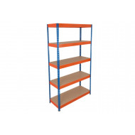 Rapid 3 Shelving With 5 Chipboard Shelves 1200Wx1800H (Blue/Orange)