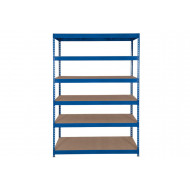 Rapid 3 Shelving With 6 Chipboard Shelves 1200wx1800h (Blue)