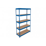 Rapid 3 shelving with 5 chipboard shelves 1500wx1800h (blue)