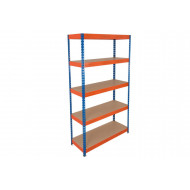 Rapid 3 Shelving With 5 Chipboard Shelves 1500wx1800h (Blue/Orange)