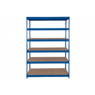 Rapid 3 Shelving With 6 Chipboard Shelves 1200wx2000h (Blue)