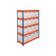 Really Useful Box Storage Unit With 16 x 24 Litre Clear Boxes