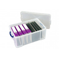 Recycled 64ltr really useful box (clear)